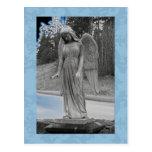 Ángel azul 17 tarjeta postal