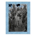 Ángel azul 18 postal