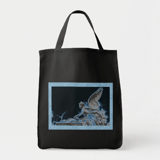 Ángel azul 22 bolsa lienzo