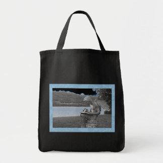 Ángel azul 24 bolsa tela para la compra