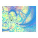Ángel azul - azul cósmico y limón postal