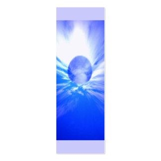 Ángel azul de cielo, mini señales tarjetas de visita mini