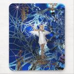 Ángel azul del arte de la fantasía de Mousepad Tapetes De Ratón