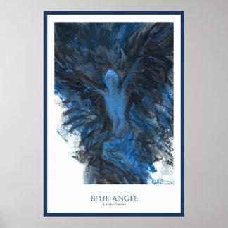 Ángel azul impresiones