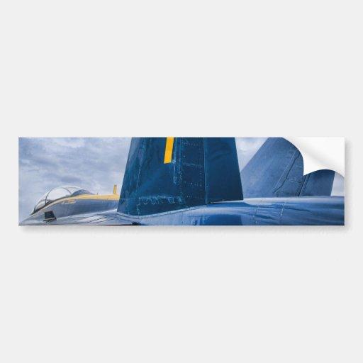 Ángel azul Luky #7 Pegatina De Parachoque