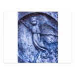 Ángel azul postal