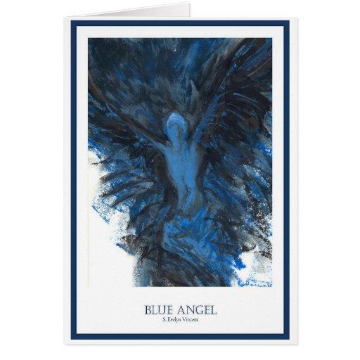 Ángel azul tarjetas