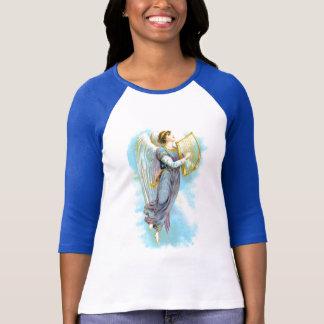 Ángel azul y arpa playeras