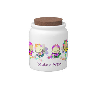 Angel Babies Wish Jar Candy Jar