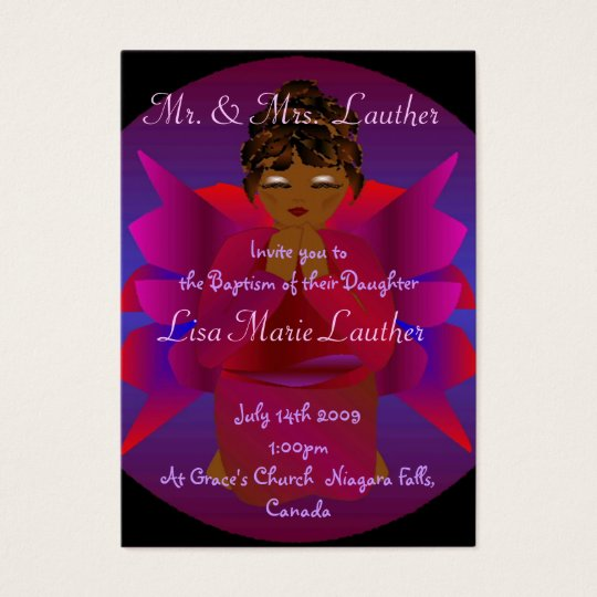 Angel Baby Baptism I Business Card