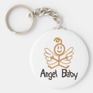 Angel Baby Basic Round Button Keychain