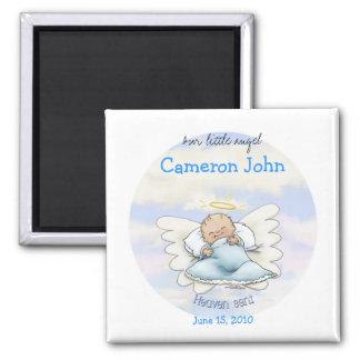 Angel Baby Boy - Heaven sent 2 Inch Square Magnet