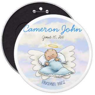Angel Baby Boy - Heaven sent Pinback Button