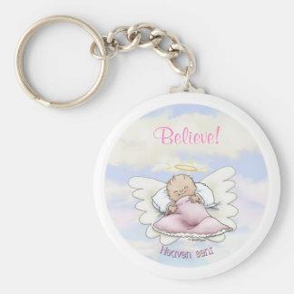 Angel baby boy key chains