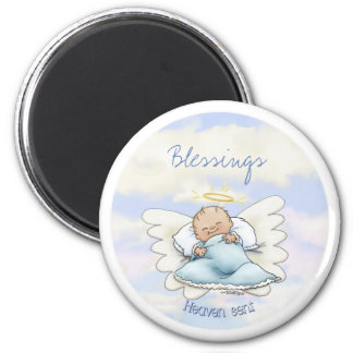 Angel baby boy magnet