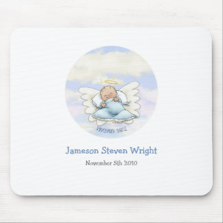 Angel baby boy mouse pad