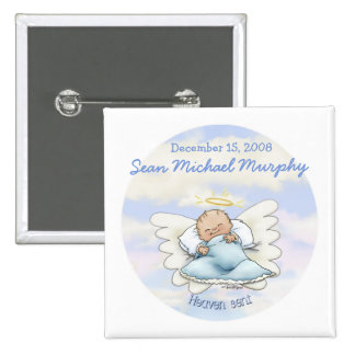 Angel baby boy pin