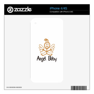 Angel Baby Decal For iPhone 4S