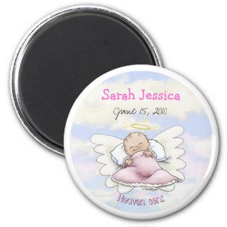 Angel Baby Girl - Heaven sent 2 Inch Round Magnet