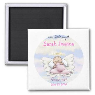 Angel Baby Girl - Heaven sent 2 Inch Square Magnet