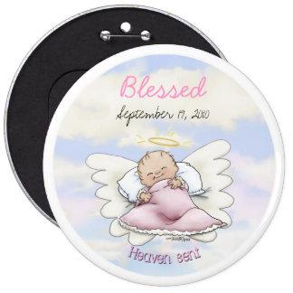 Angel Baby Girl - Heaven sent 6 Inch Round Button