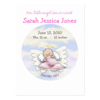 Angel Baby Girl - Heaven sent Postcard
