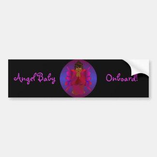 """""""Angel Baby Onboard"""" Bumper Sticker -Customizable"""