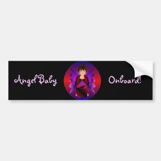 """Angel Baby Onboard I"" Bumper Stickeer- Customized Bumper Sticker"