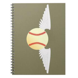 Angel Baseball Spiral Notebook