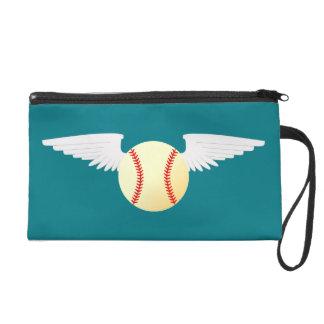 Angel Baseball Wristlet