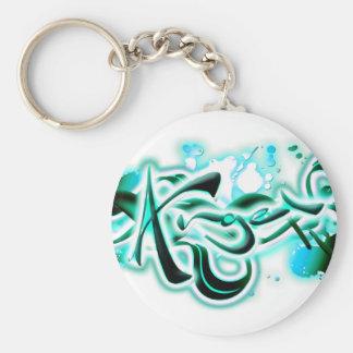 Angel Basic Round Button Keychain