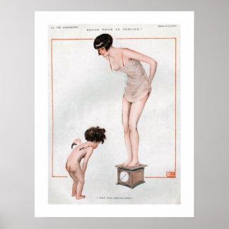 Angel Bathroom Poster. Vintage Bathroom Posters   Zazzle