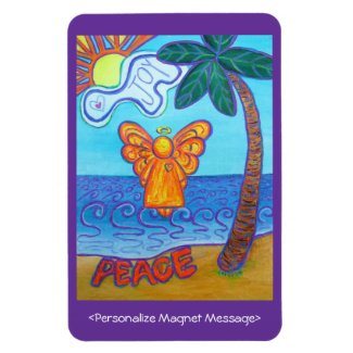 Angel Beach Art Custom Personalized Magnets