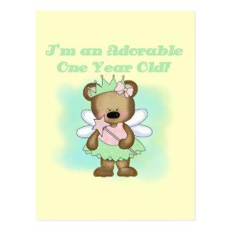 Angel Bear 1st Birthday Tshirts and Gifts Postcard