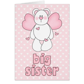 Angel Bear Big Sister Card
