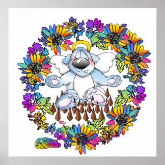 angel bear meditation fakir mouse bears poster