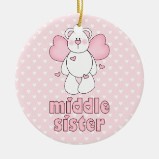 Angel Bear Middle Sister Ceramic Ornament