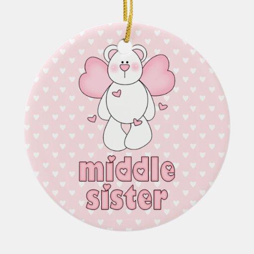 Angel Bear Middle Sister Christmas Tree Ornament