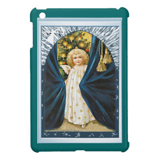 Angel behind curtains cover for the iPad mini
