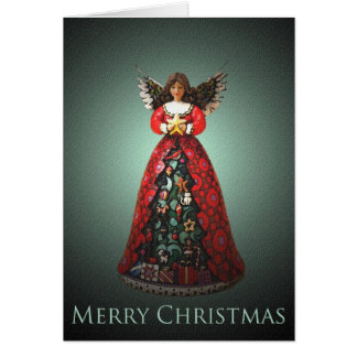 Angel Bell Christmas Card