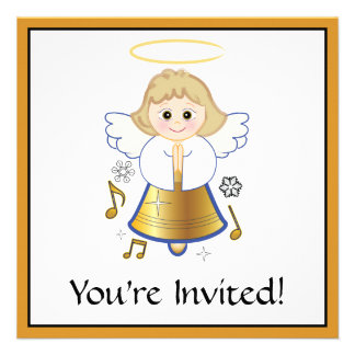 Angel Bell Holiday Party Invitation