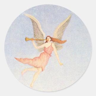 Ángel, bella arte de Henri Rousseau Pegatina Redonda