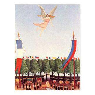 Ángel, bella arte de Henri Rousseau Tarjeta Postal