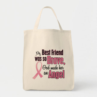 Angel BEST FRIEND Breast Cancer T-Shirts & Apparel Tote Bag