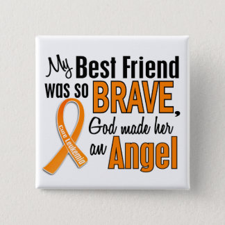 Angel Best Friend (Female) Leukemia Pinback Button