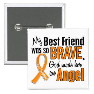 Angel Best Friend (Female) Leukemia Pinback Button