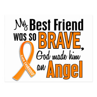 Angel Best Friend Leukemia Postcard