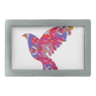 ANGEL BIRD - Decorative Graphic Art Show Rectangular Belt Buckles