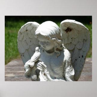 Angel & Bird Feathered Friends Photograph Poster