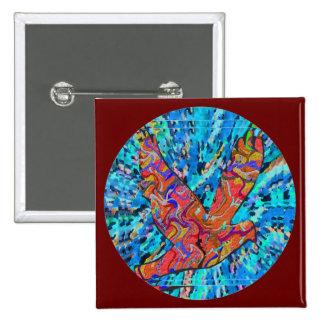 Angel Bird  - Round 2 Inch Square Button